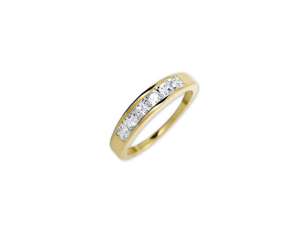 Zlatý prsten Iva s bílými kameny