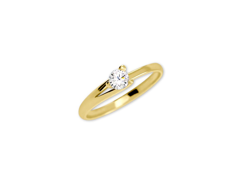 778dbb979 Zlatý prsten se zirkonem Tereza