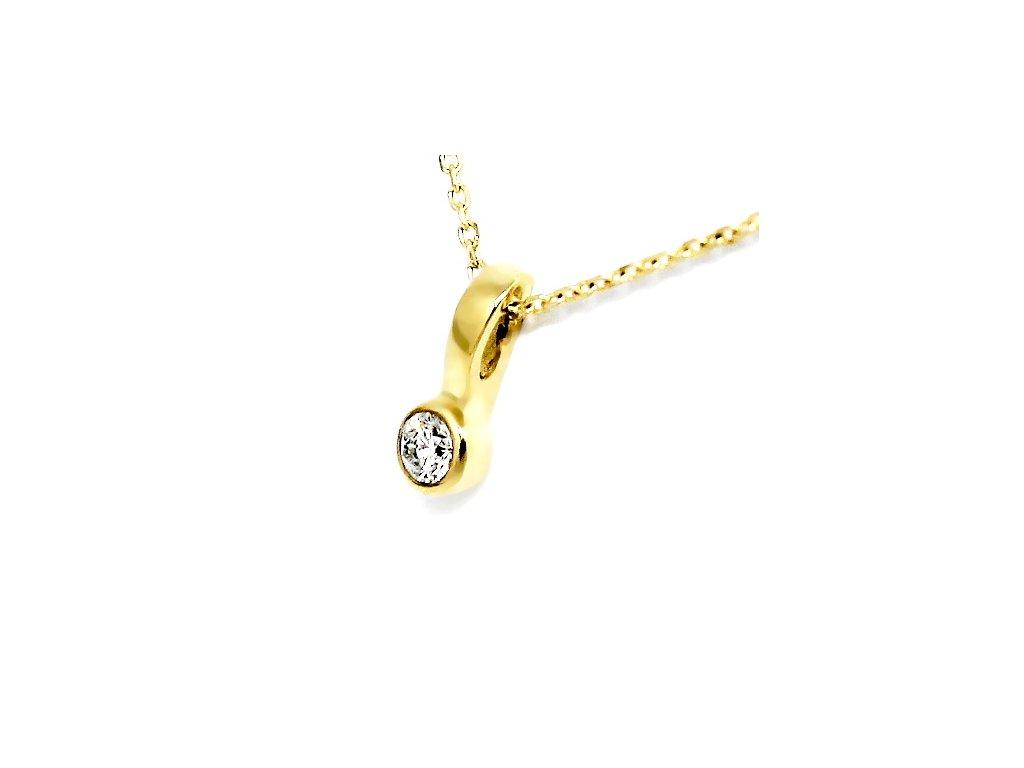 Alo diamantový přívěsek 0,08ct s řetízkem