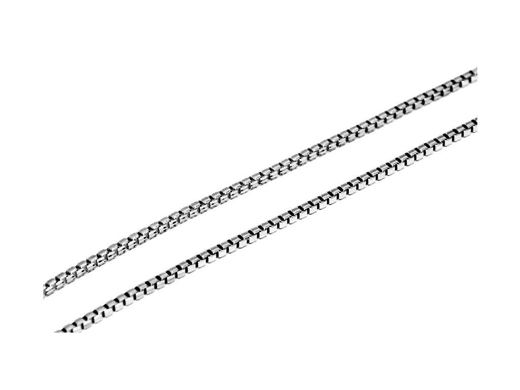 Zlatý řetízek z bílého zlata kostičky Venezia 42/45/50/55cm