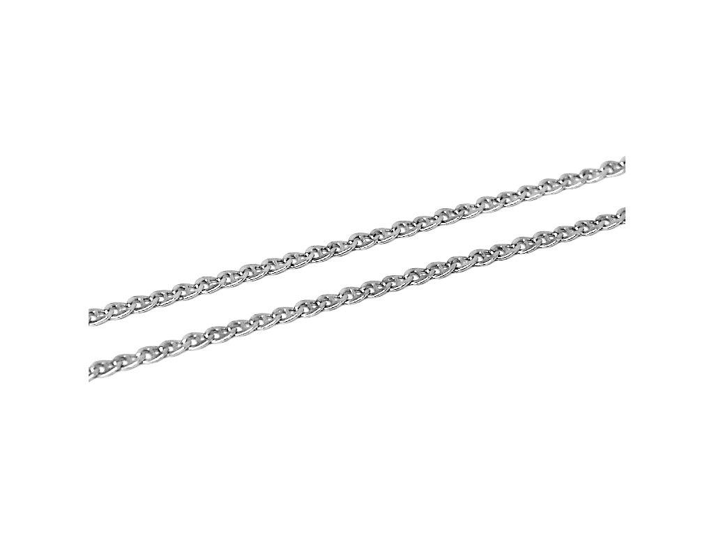 Zlatý řetízek z bílého zlata 42/45/50cm
