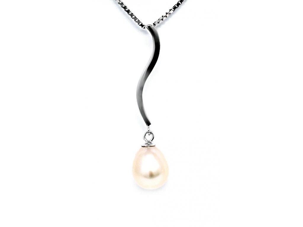 Stříbrný perlový přívěsek