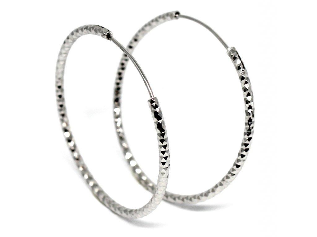 Stříbrné náušnice kruhy 3,5cm