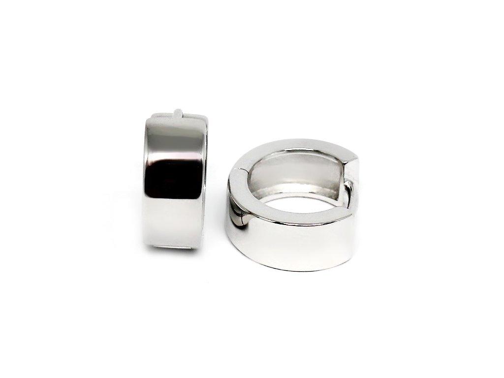 Stříbrné náušnice kruhy 14mm