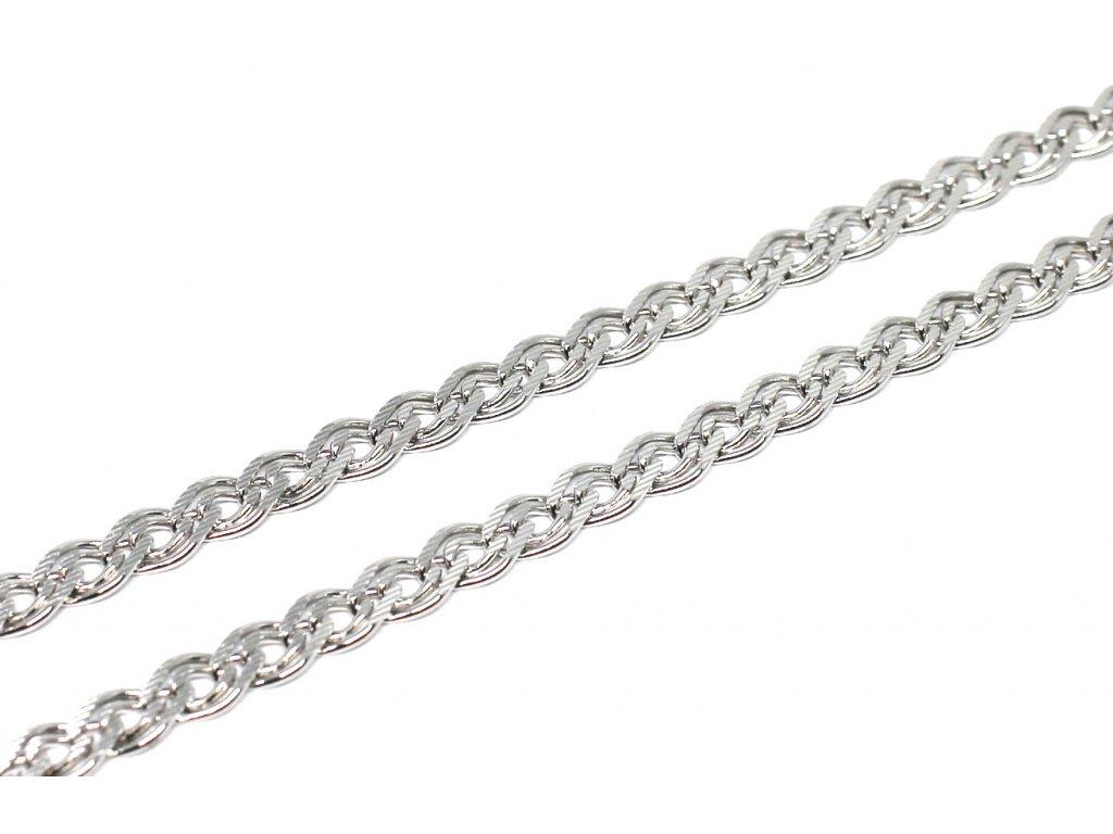 Stříbrný řetízek Rombo gravírovaný 45/50 cm