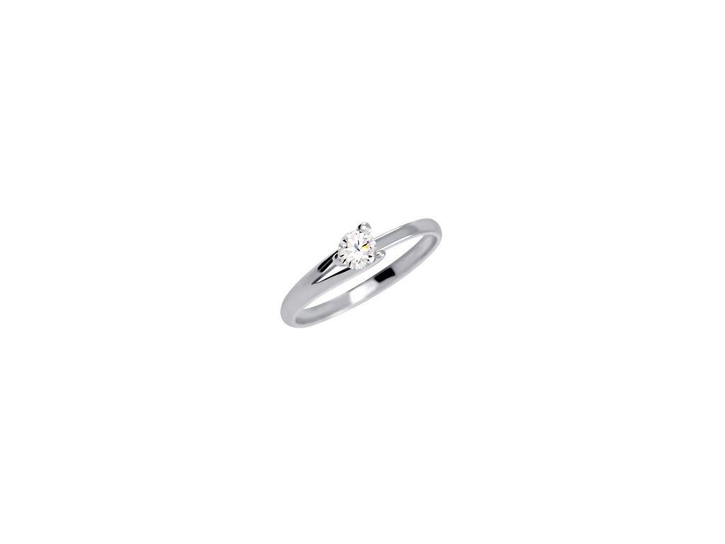 Zlatý prsten z bílého zlata se zirkonem Jitka