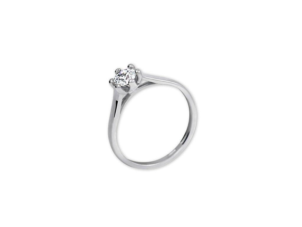 Zlatý prsten z bílého zlata se zirkonem Tina