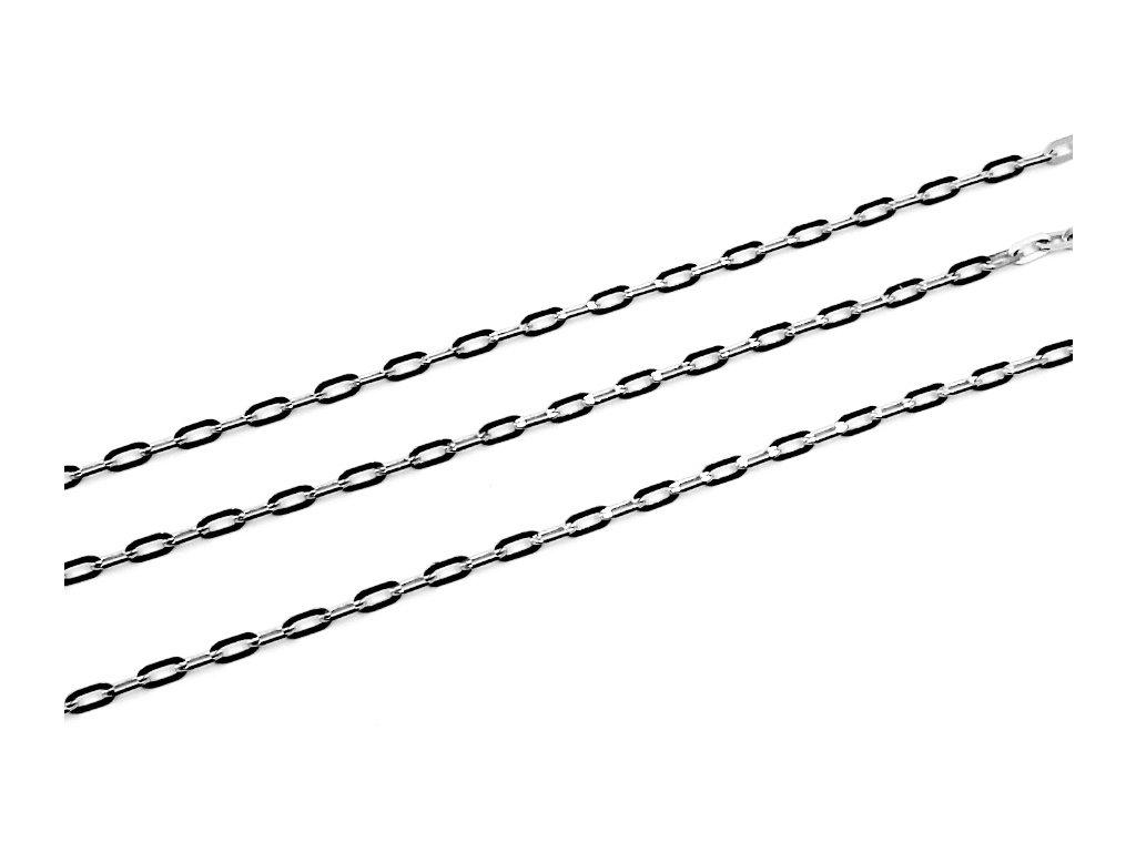Řetízek bílého zlato anker jemný 38/42/45/50cm  38/42/50cm