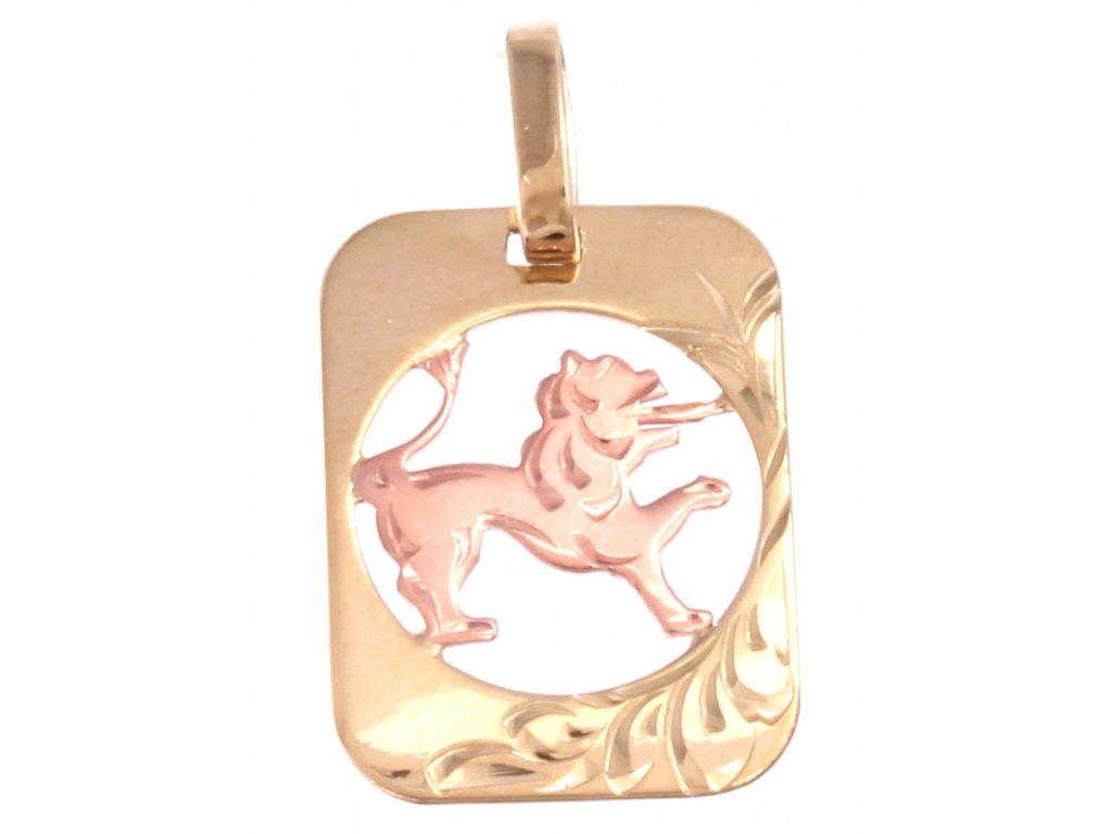 Zlatý přívěšek znamení-Lev