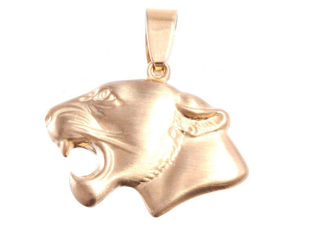 Zlatý přívěšek puma