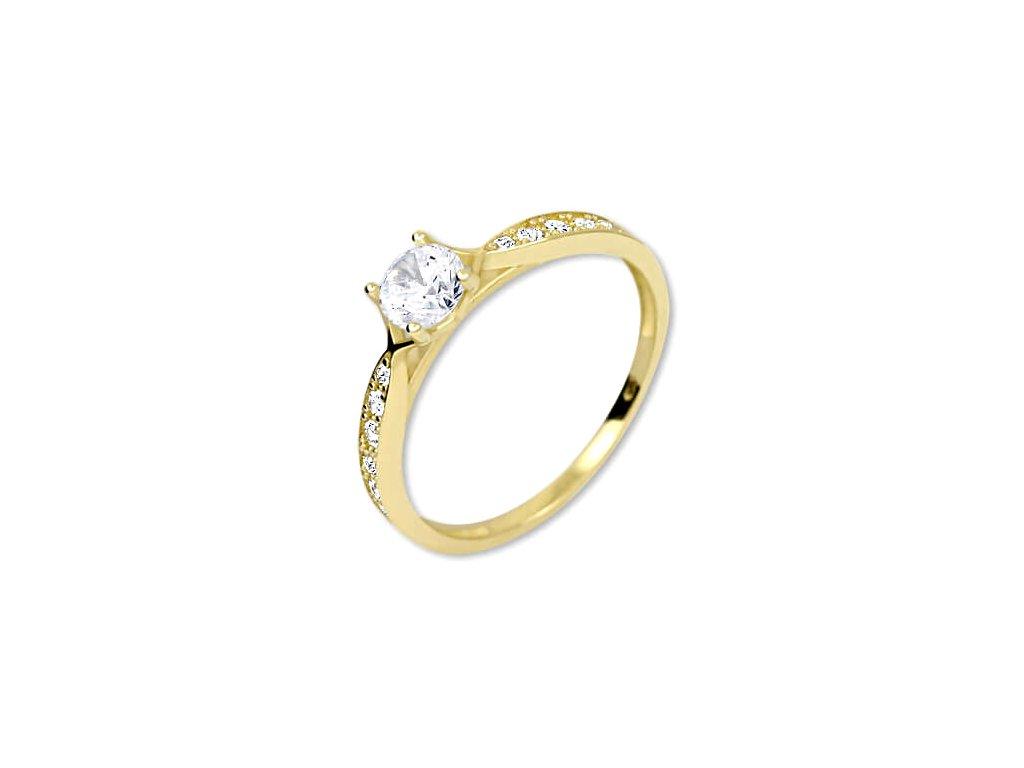 zlaty prsten s krystaly 229 001 00753
