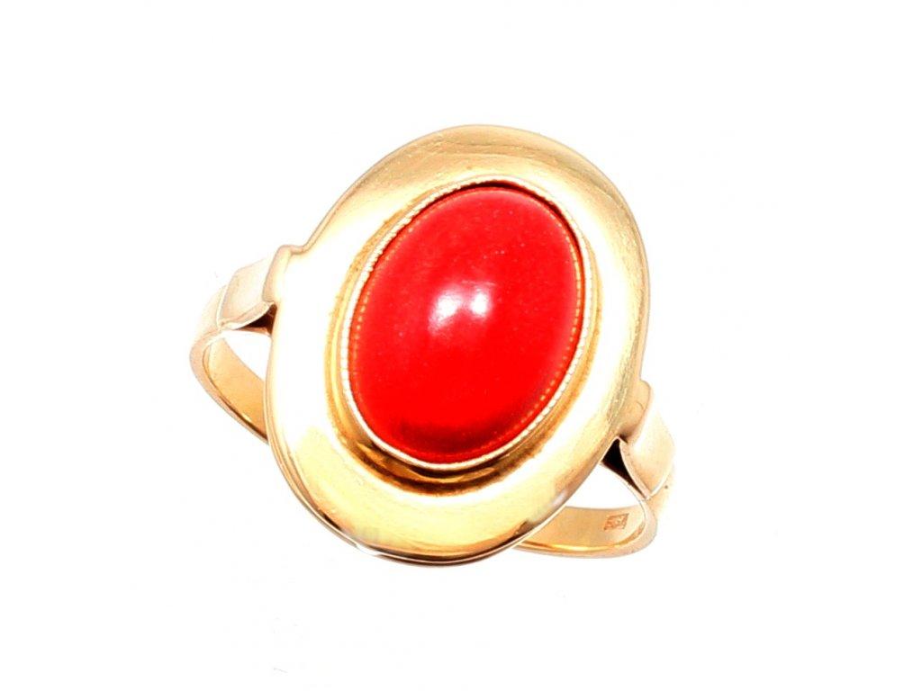 Zlatý prsten s korálem If