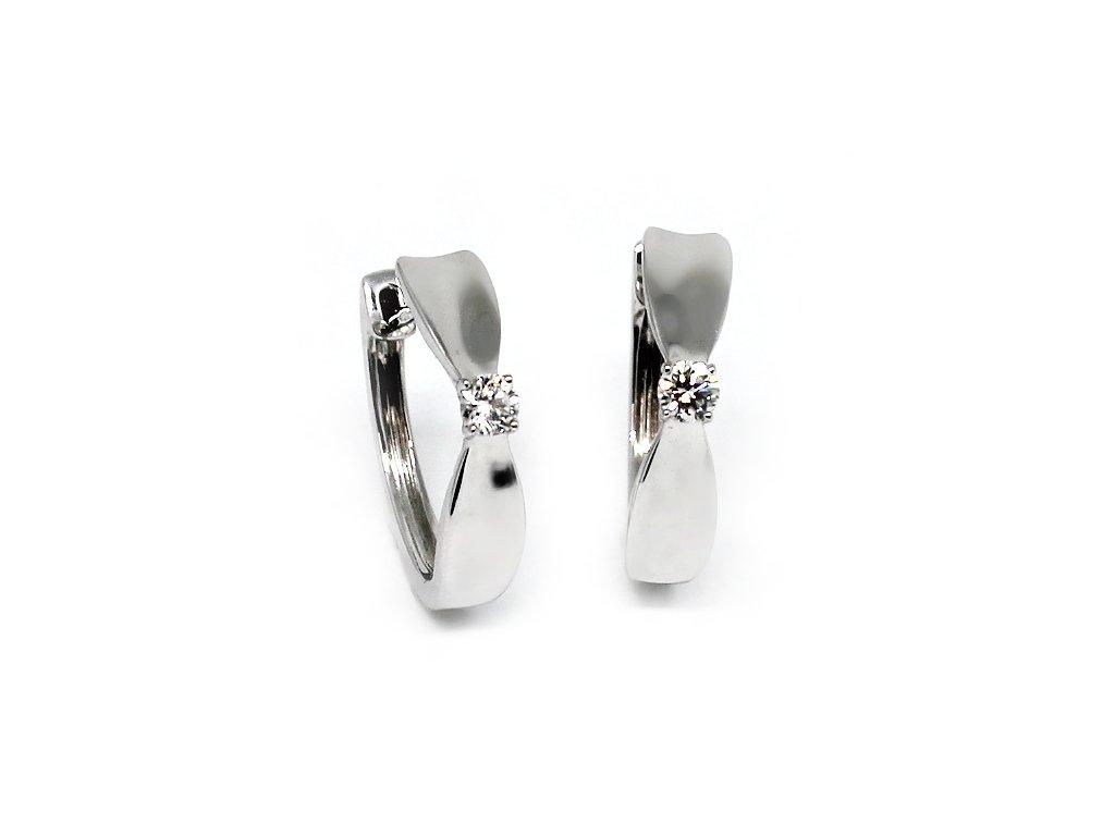 Diamantové náušnice bílé zlato Electra
