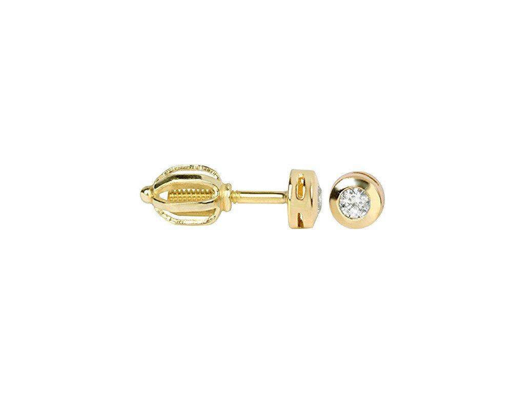zlate nausnice s krystaly 236 001 00634 14394265