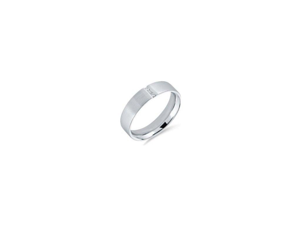 Alo zásnubní diamantový prsten bílé zlato 0,045ct Ema