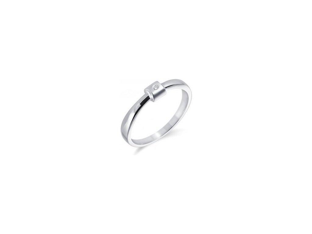 Alo zásnubní diamantový prsten bílé zlato