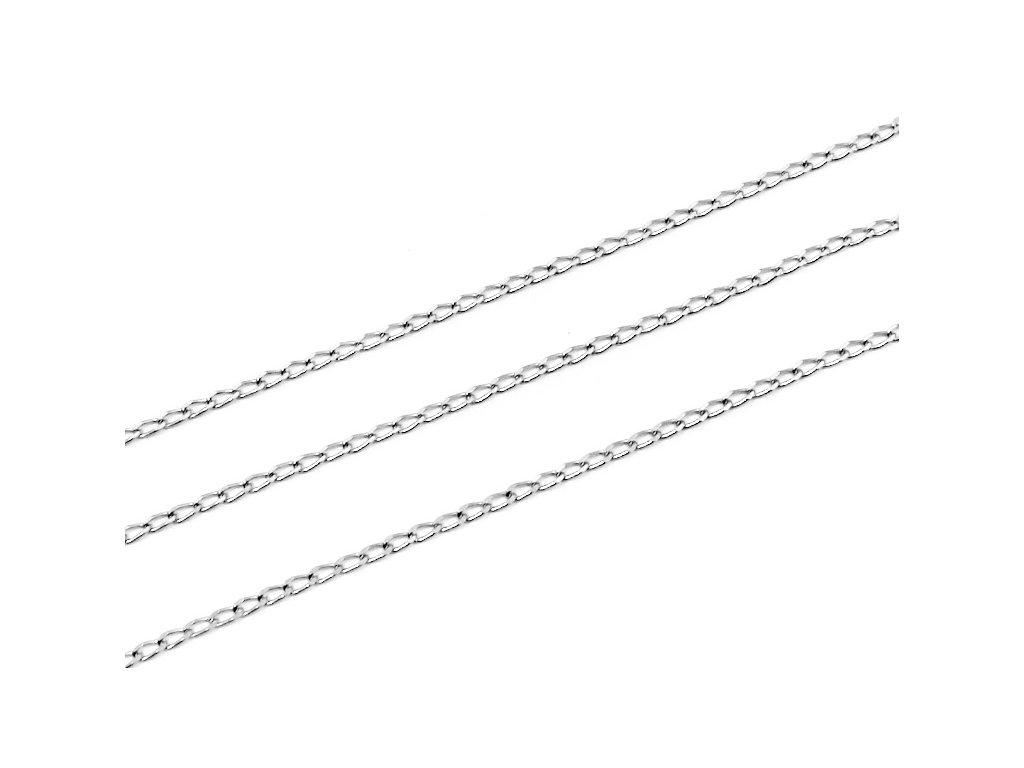 Řetízek z bílého zlata 38/42/45/50  45 cm