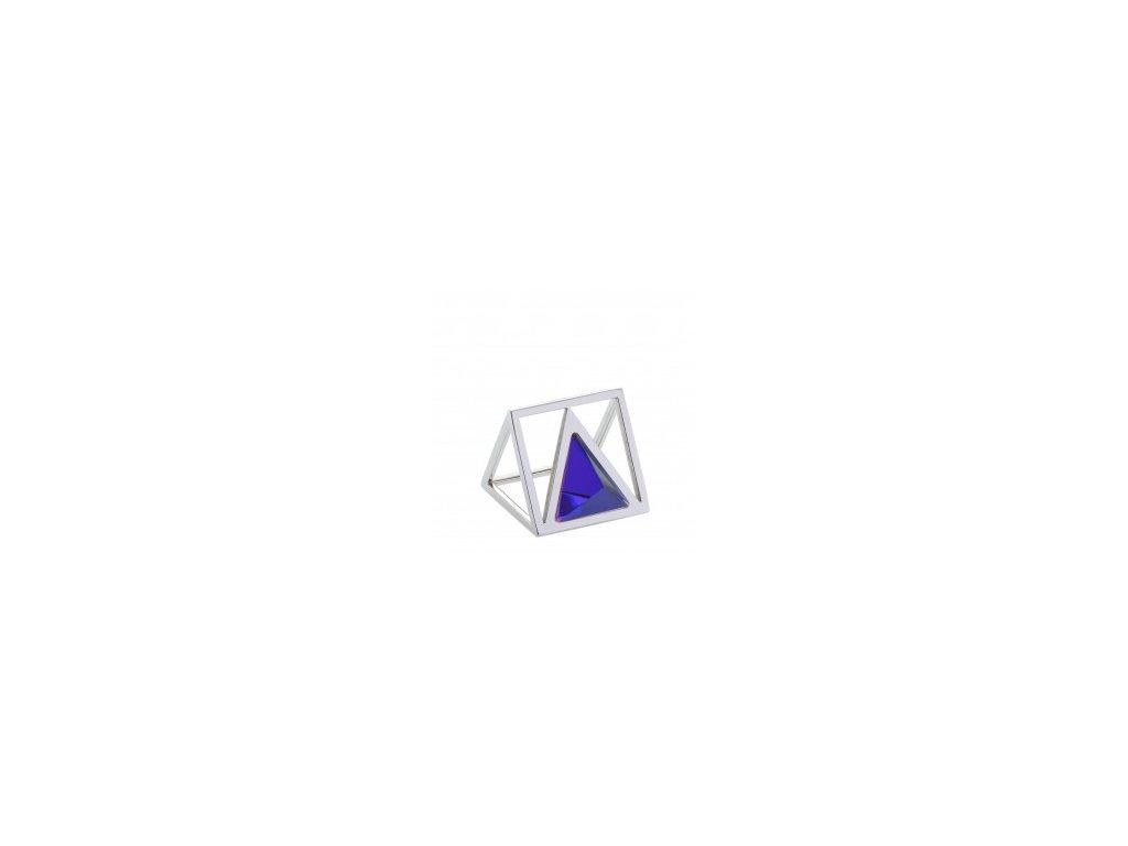 Ocelový prsten Storm Triana Ring Lazer Blue