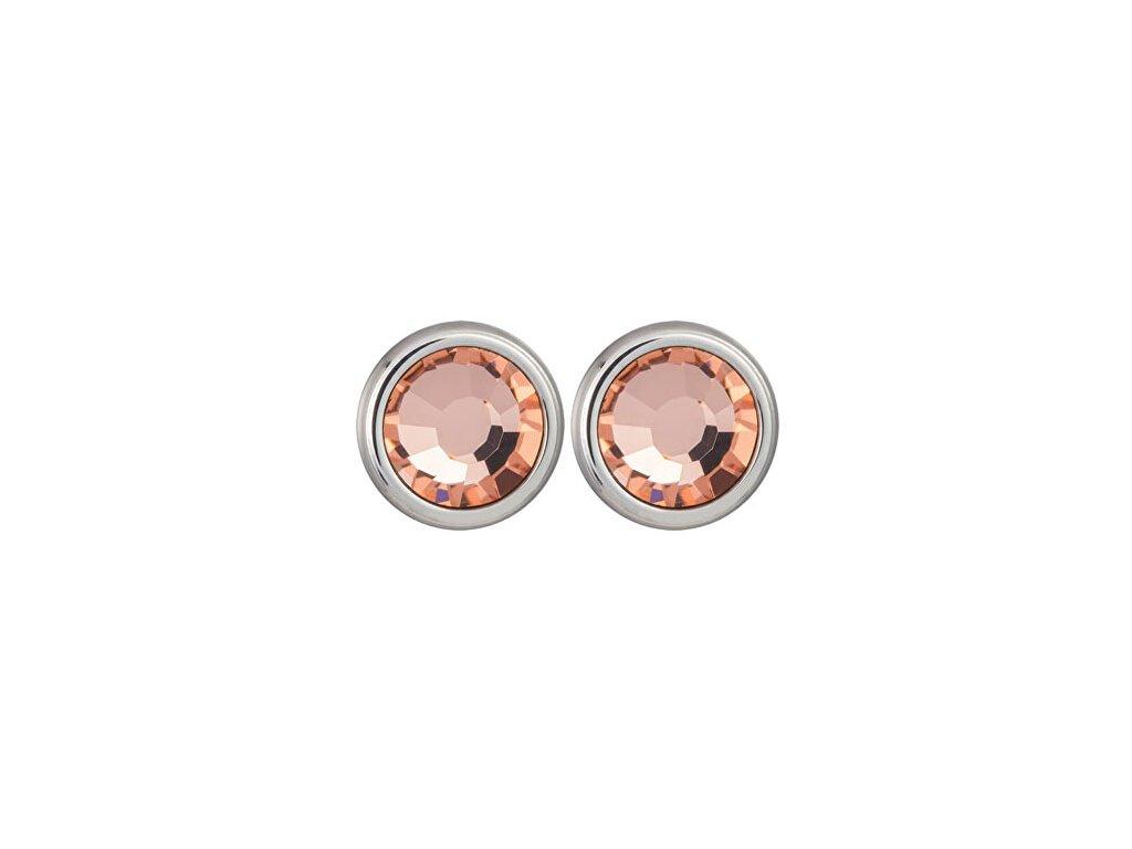 preciosa nausnice carlyn s krystalem apricot 7235 49 14294971