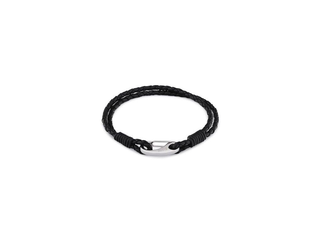 pansky kozeny naramek storm jax bracelet black 82981 1