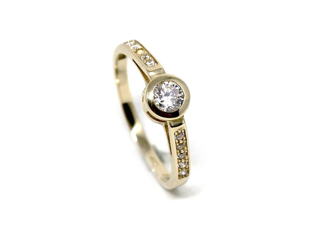 ee88a27c5 Zlatý prsten se zirkony Lenka