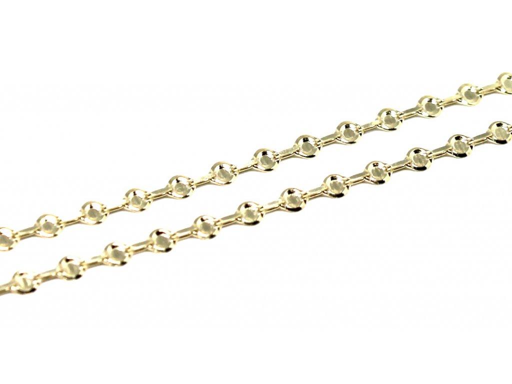 Zlatý náramek destičkový 18cm, 19cm