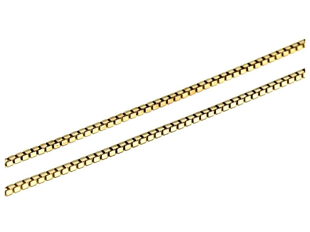 Zlatý řetízek Venezia kostičky 45/50/55/60cm.