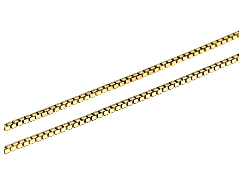 Zlatý řetízek Venezia-kostičky 42/45/50/55cm