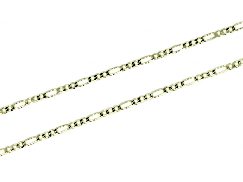 Zlatý řetízek Figaro 3+1 45/50/55cm