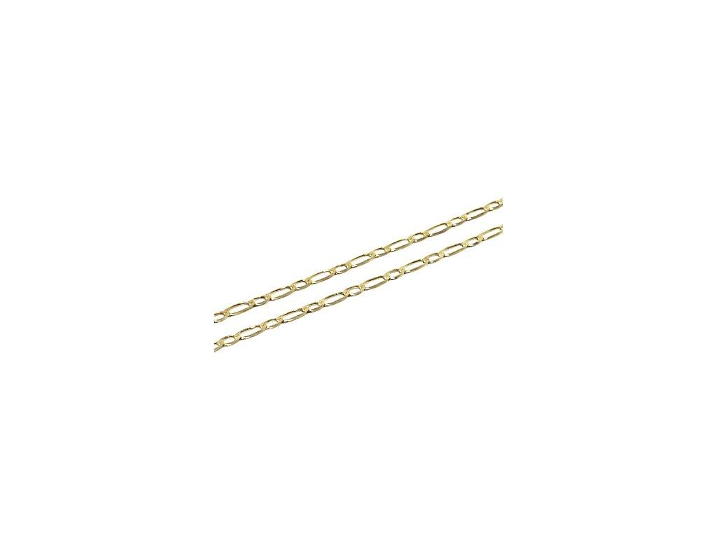 Zlatý řetízek Figaro 1+1 60cm