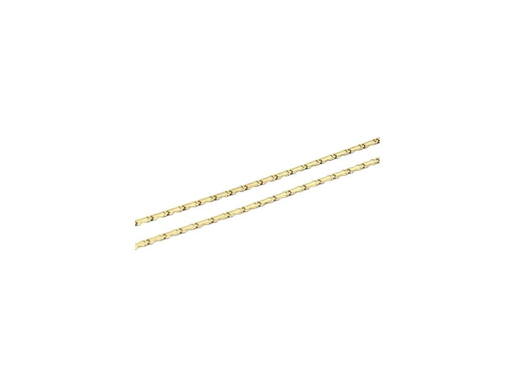 Zlatý řetízek destičkový 42/50cm vlnka