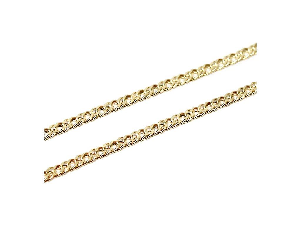 Zlatý řetízek koso Pancer 45cm