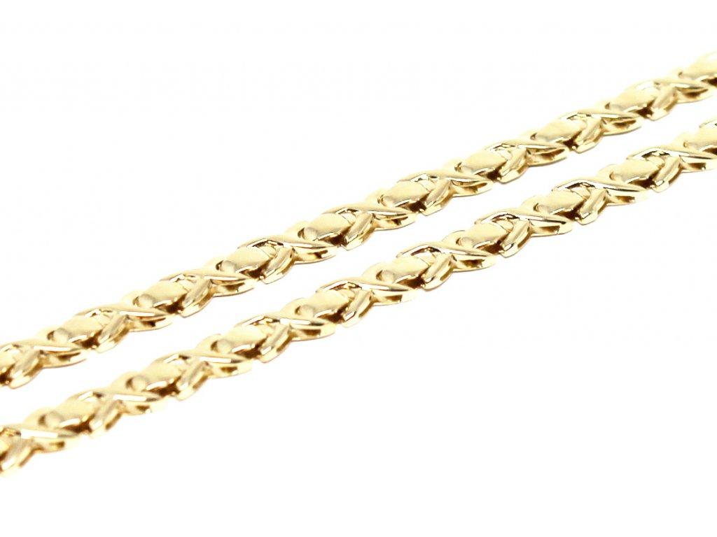 Zlatý náhrdelník 42cm hladký
