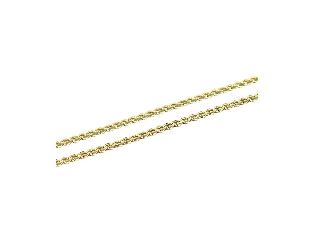 Zlatý řetízek vlnkový Anker 40/42cm