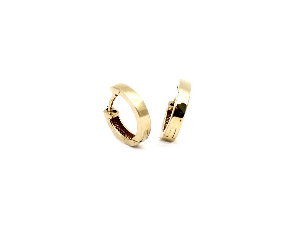 Zlaté náušnice kruhy hladké