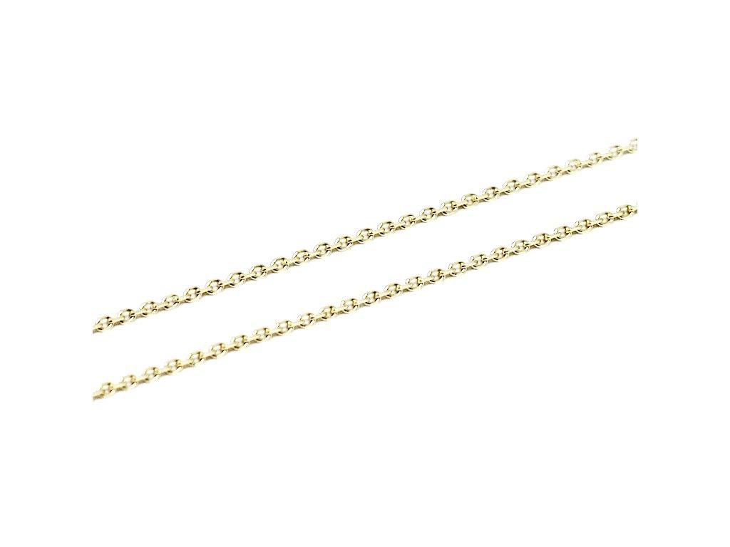Zlatý řetízek Anker 38-50cm