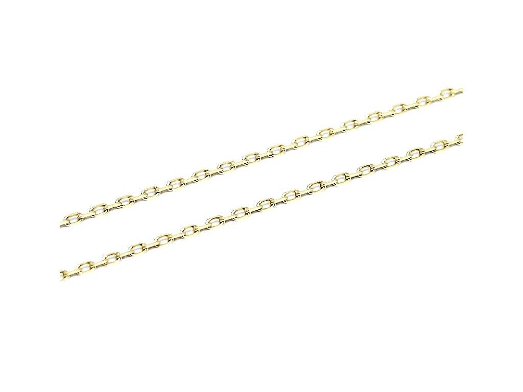 Zlatý řetízek pilovaný Anker 50cm