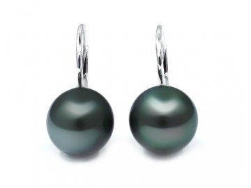 Perlové náušnice s tahitskou perlou 8,5-9mm