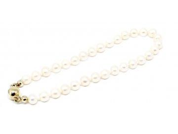 Perlový náramek sladkovodní perly 17cm