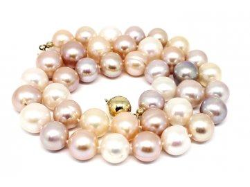 Perlový náhrdelník barevné perly 45m