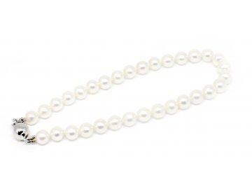 Perlový náramek sladkovodní perly 19cm