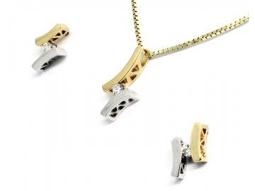 Zlatá souprava s diamantem