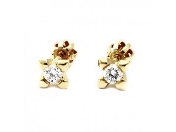 Diamantové náušnice 0,21ct
