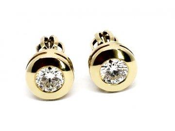 Diamantové náušnice pecky 0,62ct