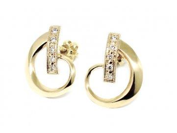 Diamantové náušnice kruhy 0,10ct