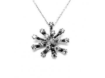 Luxusní diamantový přívěsek ALO bílé zlato 0,48ct