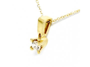 Alo diamantový přívěsek kulatý 0,19ct s řetízkem