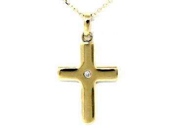 Diamantový přívěsek křížek