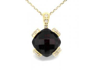 Alo diamantový přívěsek granát