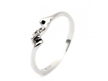 Diamantový prsten bílé zlato 0,015ct